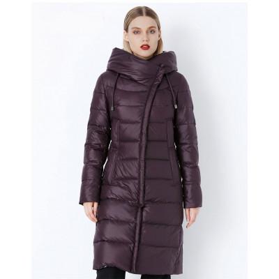Зимнее женское пальто KD087-3, цвет фиолетовый
