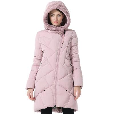 Зимнее женское пальто KD086-6, цвет розовый