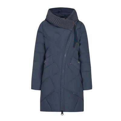Зимнее женское пальто KD086-7, цвет серо-зеленый