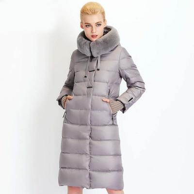 Зимнее женское пальто KD085-1, цвет серый