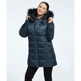 Куртка женская зимняя с капюшоном и мехом KD082
