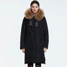 Зимнее женское пальто с мехом KD073-1
