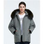 Короткая зимняя куртка женская с мехом KD072