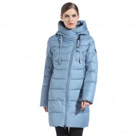 Куртка стеганая удлиненная женская KD069-1