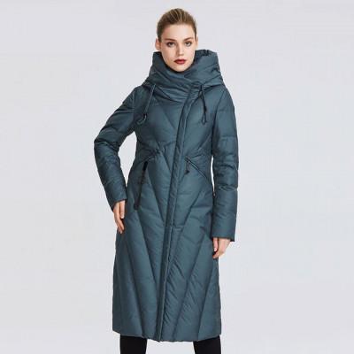 Зимнее женское пальто KD067-3, цвет зеленый