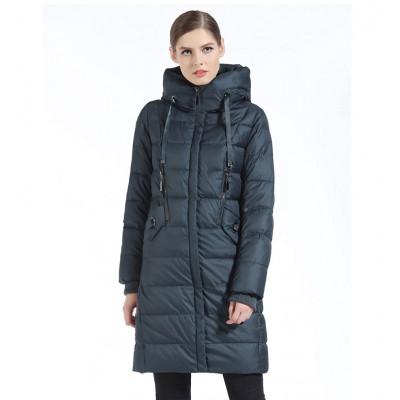Зимнее женское пальто KD064-3, цвет темно-синий