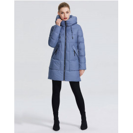 Женская утепленная куртка с капюшоном KD057-3