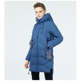 Куртка зимняя женская синяя KD056-3