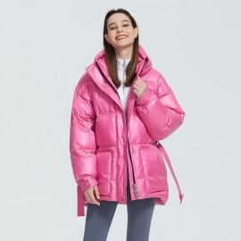 Розовая куртка женская зимняя KD052-2