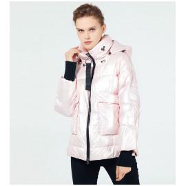 Розовая куртка зимняя женская KD051-2