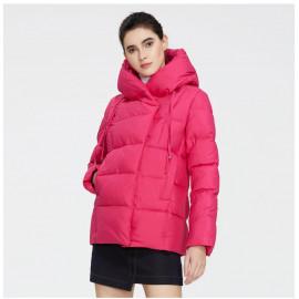 Розовая куртка зимняя короткая KD050-5
