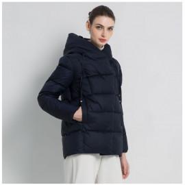 Куртка зимняя женская темно-синяя KD050-1