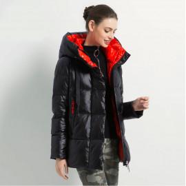 Куртка с капюшоном женская зимняя KD048