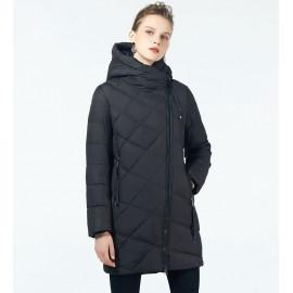 Черная куртка зимняя женская KD047