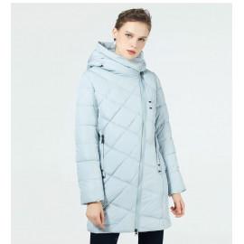Женская утепленная куртка удлиненная KD047-1