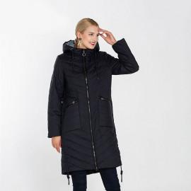Пальто женское на осень для полных женщин KD046