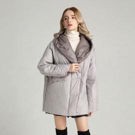 Женская куртка на осень большие размеры KD045-1