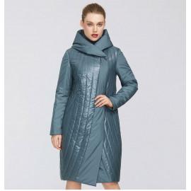 Утепленное пальто для полных женщин KD042-1