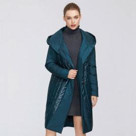 Пальто стеганое женское оверсайз KD042-2