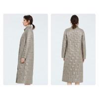 Бежевое пальто женское KD039