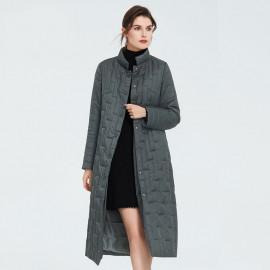 Стеганое пальто весна-осень женское KD039-1