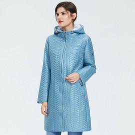 Куртка женская демисезонная удлиненная больших размеров KD041-1
