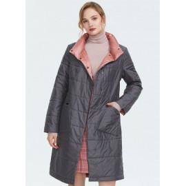 Женское пальто на синтепоне больших размеров KD038