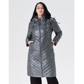 Весеннее пальто для полных женщин KD033-1