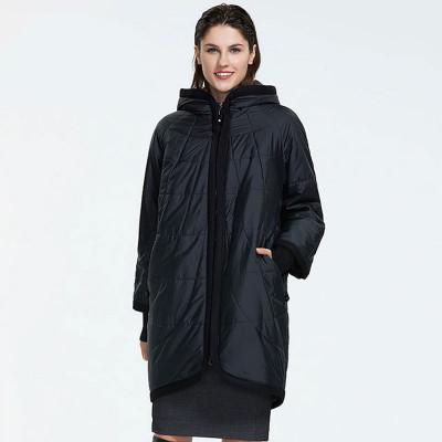 Демисезонная куртка женская большого размера KD031-3, цвет черный