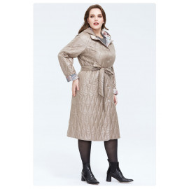 Пальто бежевое женское оверсайз KD028-2