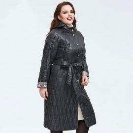 Демисезонное пальто для полных женщин KD028