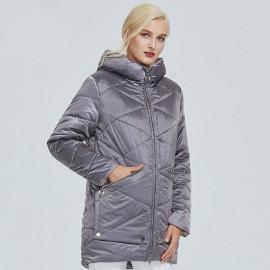 Куртка женская демисезонная стеганая больших размеров KD027