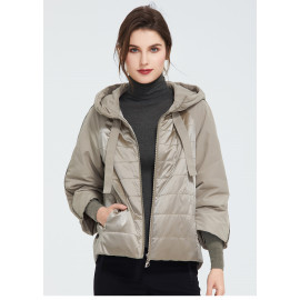 Куртка женская демисезонная стеганая большого размера KD025