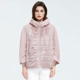 Куртка женская демисезонная с капюшоном больших размеров KD025-1