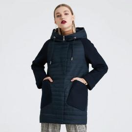 Женская черная куртка осенняя KD022