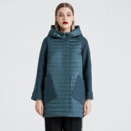 Куртка женская весна с капюшоном KD022-2