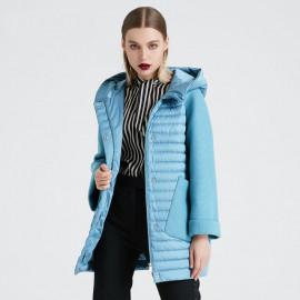 Утепленная женская куртка с капюшоном KD022-5