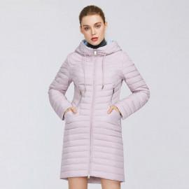 Женское розовое пальто KD021