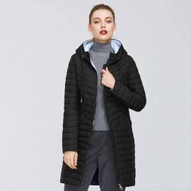 Пальто черное женское демисезонное KD021-2