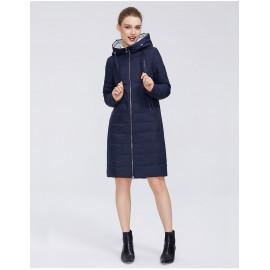 Утепленное пальто женское с капюшоном KD020