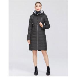 Пальто женское черное оверсайз KD020-4