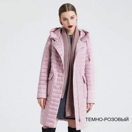 Пальто женское демисезонное с капюшоном KD019-2