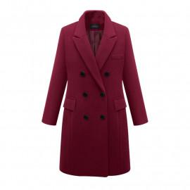 Женское приталенное двубортное пальто KD017-2