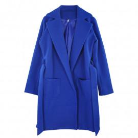 Синее пальто женское KD011-2