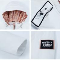 Белая короткая куртка женская KD010-1