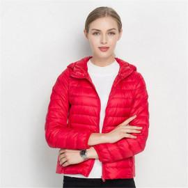Куртка осенняя с капюшоном женская KD005-2