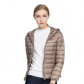 Осенняя куртка женская с капюшоном короткая KD005-5