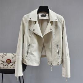 Куртка кожаная женская летняя KR007-4
