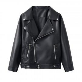 Кожаная куртка-косуха женская KR004