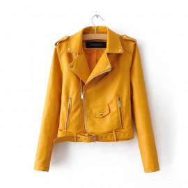 Женская кожаная куртка KR003